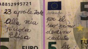 euro con scritte e scarabocchiati