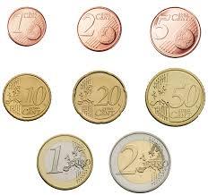 I tagli degli Euro in moneta