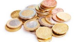 Euro - mucchio di monete non separate