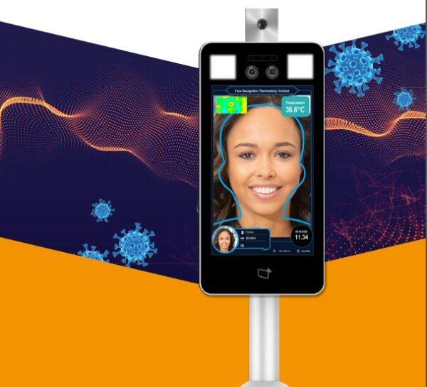 misuratore della temperatura corporea a distanza tramite riconoscimento facciale